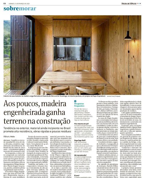 Madeira engenheirada ganha terreno na construção